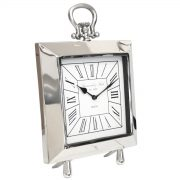 Square Nickel Table Clock 1