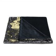 Black and gold sequin throw – detail