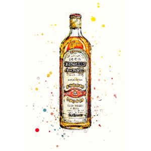 Bushmills Irish Whiskey open edition art print by Kathryn Callaghan