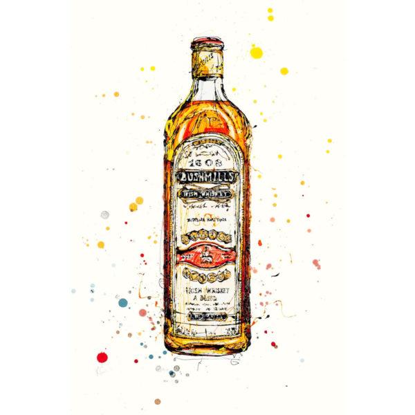 Bushmills Irish Whiskey open edition art print by Kathryn Callaghan