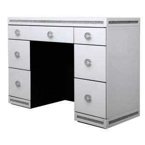White Chic 5 Drawer Dressing Table