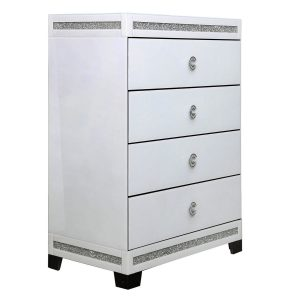 White Chic 4 Drawer Chest