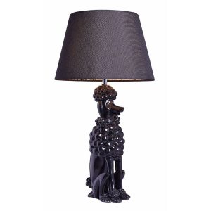 Poodle Table Lamp Black