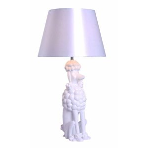 Poodle Table Lamp White