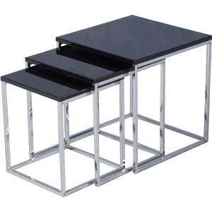Black gloss nest of 3 tables web