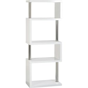 S Range white gloss 5 tier unit