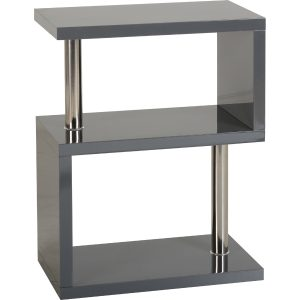 S range black gloss side table