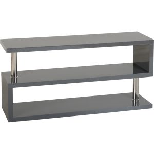 S range black gloss tv unit