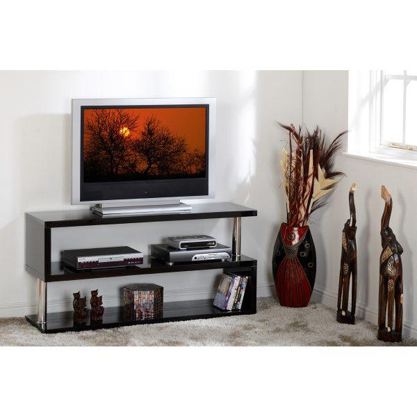 S range black gloss tv unit situ