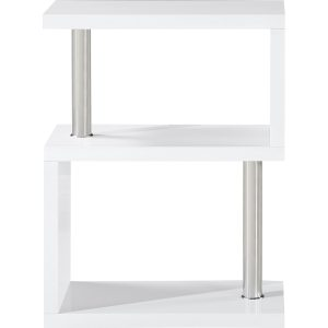 S range white gloss side table