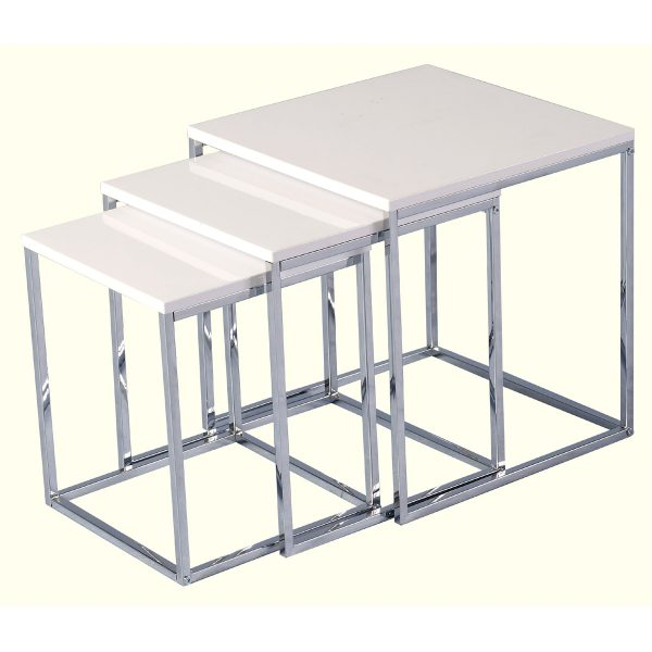 White gloss nest of 3 tables web