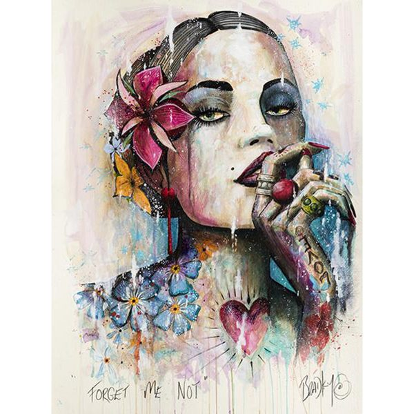 Forget Me Not Open Edition Art Print by Terry Bradley