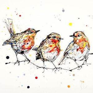 Dawn Chorus limited edition art print by Kathryn Callaghan
