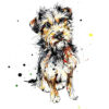 Expectation (Terrier) open edition art print by Kathryn Callaghan