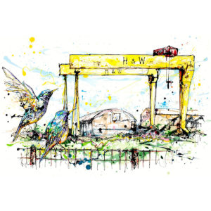 Belfast Cranes Limited Edition Art Print by Kathryn Callaghan