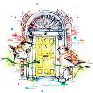 Dublin Doors open edition art print by Kathryn Callaghan