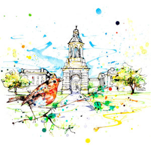 Trinity College open edition art print by Kathryn Callaghan