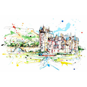 Belfast Castle open edition art print by Kathryn Callaghan