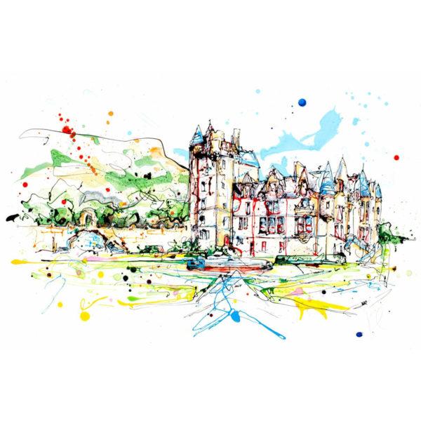 Belfast Castle open edition art print by Kathryn Callaghan