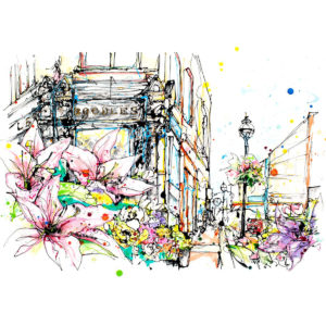 Grafton Street limited edition art print by Kathryn Callaghan