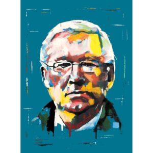 Sir Alex Ferguson Original painting on canvas board by Aidan Sloan