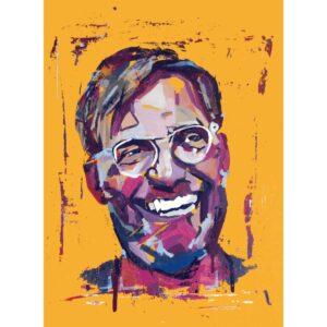 Jurgen Klopp original on canvas board by Aidan Sloan