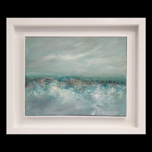 Landscape IV Original mixed media abstract painting by Belfast based artist Jane Donaldson