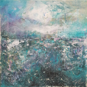 Landscape V Original mixed media abstract painting by Belfast based artist Jane Donaldson