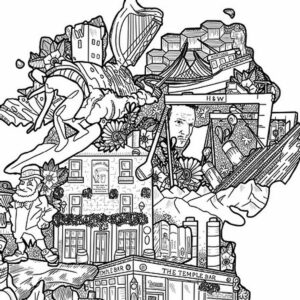 Danni Simpson Art Ireland Map close up detail