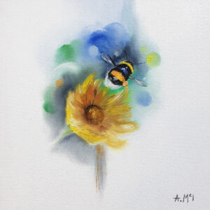 Bumblebee with flower by Alison McIlkenny