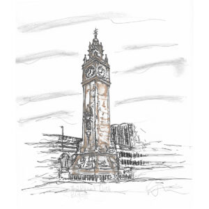 Albert Clock Limited edition print by Danielle Wallace