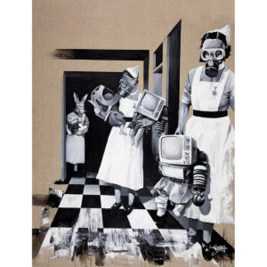 3 Nurses limited edition art print by Tommy Fiendish