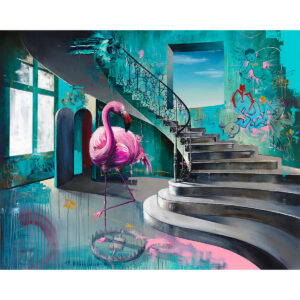 The Remedy Stairs Part I limited edition art print by Tommy Fiendish