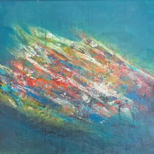 Landscape 3 original on canvas by Belfast Artist Jane Donaldson